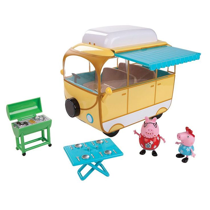 Peppa Pig Family Camper Van Set, Multicolor