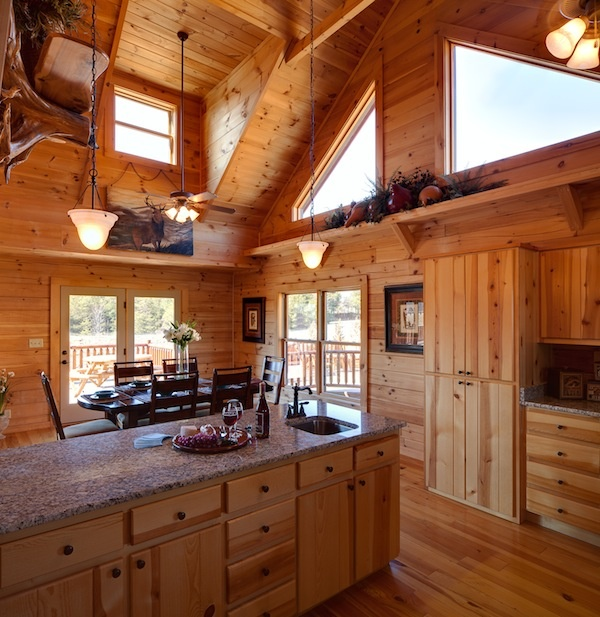 19 Log Cabin Home Décor Ideas: Jocassee V Kitchen And Dinning Room By Blue Ridge Log