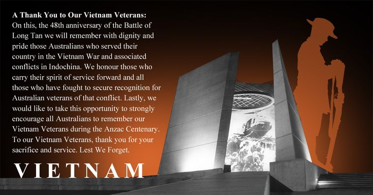 A Thankyou to Australian Vietnam Veterans | Vietnam ...