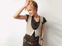 modèle tricot, gilet sans manches à tricoter