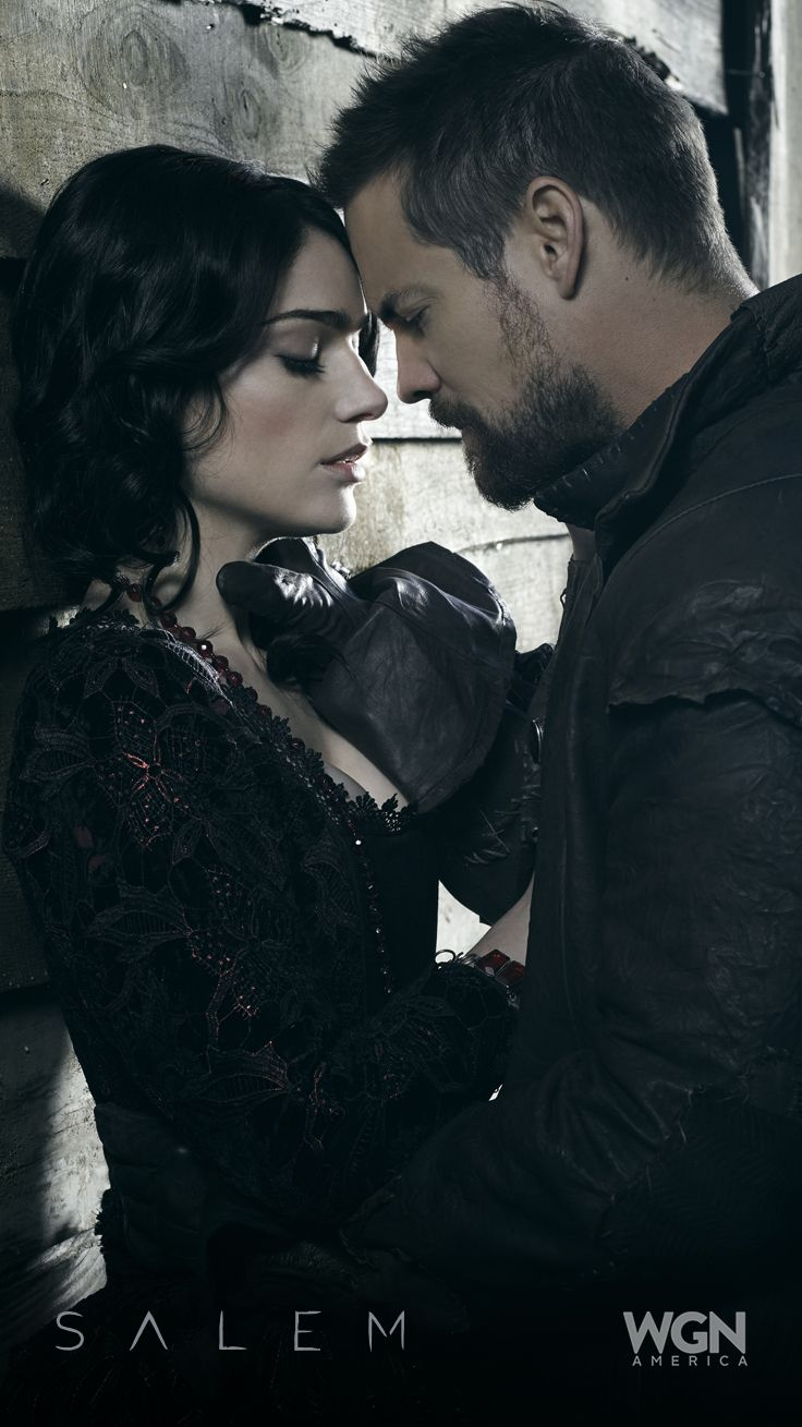 "Romance or Revenge (Janet Montgomery and Shane West)? ""Salem"" Season 2 – Sunday, April 5 at 10/9c on WGN America."