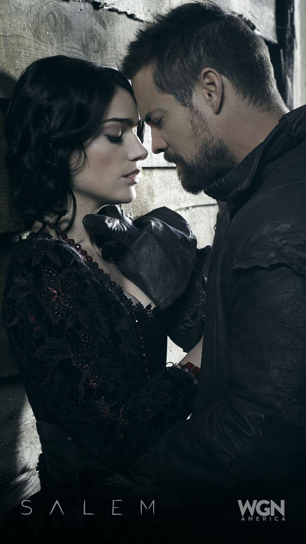 "Romance or Revenge (Janet Montgomery and Shane West)? ""Salem"" Season 2 – Sunday, April 5 at 10/9c on WGN America."