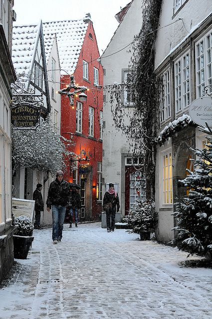 Schnoor Viertel in Bremen, Germany