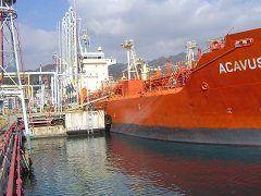 Acavus tanker docked