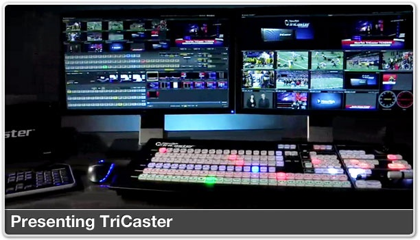 """NewTek's TriCaster is a portable live production system that enables a single operator or small team to produce and stream multi-camera broadcast quality video. This """"TV truck in a box"""" is widely used by broadcasters (MTV, Turner Sports, ESPN), sports leagues and teams (NHL, NBA D-League, NY Giants), schools, corporations and houses of worship to live stream a wide variety of programming."""