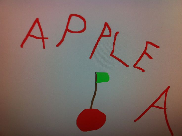 Apple drawing by my 4 yr old