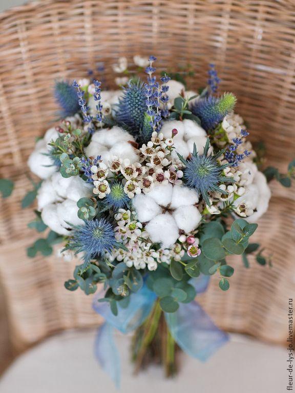 Купить Поздравительный / Свадебный букет - голубой, букет, живые цветы, цветы, подарок