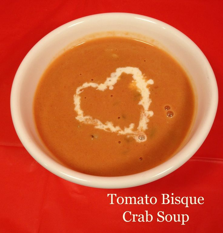 Tomato Bisque Crab Soup #frugal #soup #recipe #15MinuteSuppers