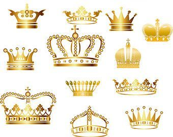 Crown Clipart // King Queen Crown Clip Art // Royal by BlueGraphic | Coroa  | Pinterest | Queen crown, Crown and Clip art