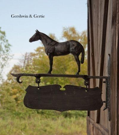 Vintage Horse Barn Sign