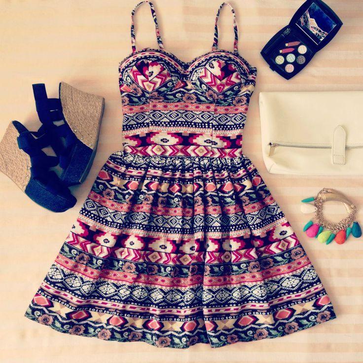Aztec/tribal style bustier dress!