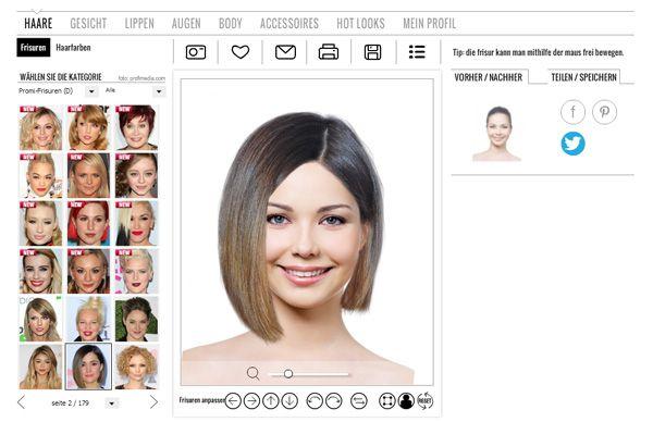 Online Frisurentester
