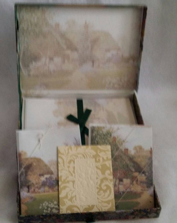 Check out this item in my Etsy shop https://www.etsy.com/listing/523592371/vintage-stationary-box-set-the-cottage
