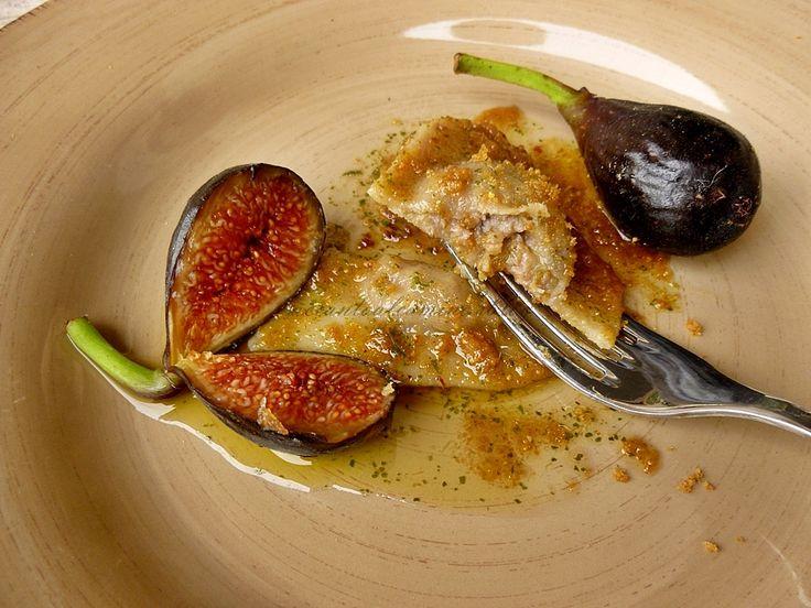 raviolo figo moro da Caneva prosciutto di Sauris