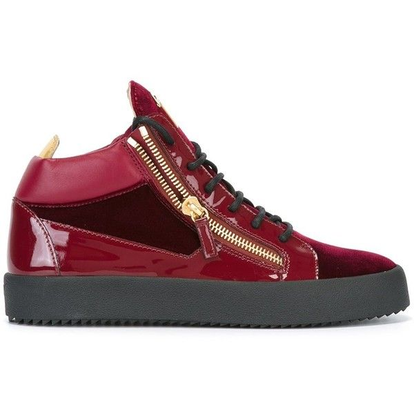 Giuseppe Zanotti Design Kriss sneakers (2,010 ILS) ❤ liked on Polyvore featuring men's fashion, men's shoes, men's sneakers, red, shoes, mens lace up shoes, mens red shoes, giuseppe zanotti mens shoes, mens flat shoes and giuseppe zanotti mens sneakers