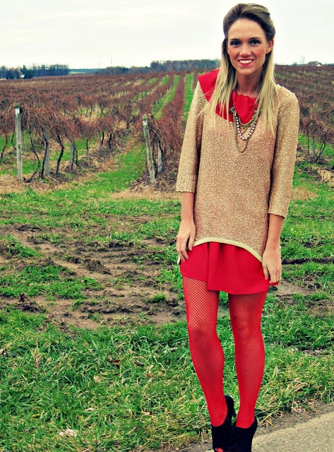 12 days of holiday outfits red dress preppy pinterest