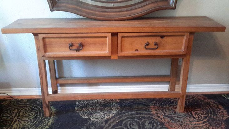 "Rustic Mexican Pine sideboard ""1992""Pottery Barn"