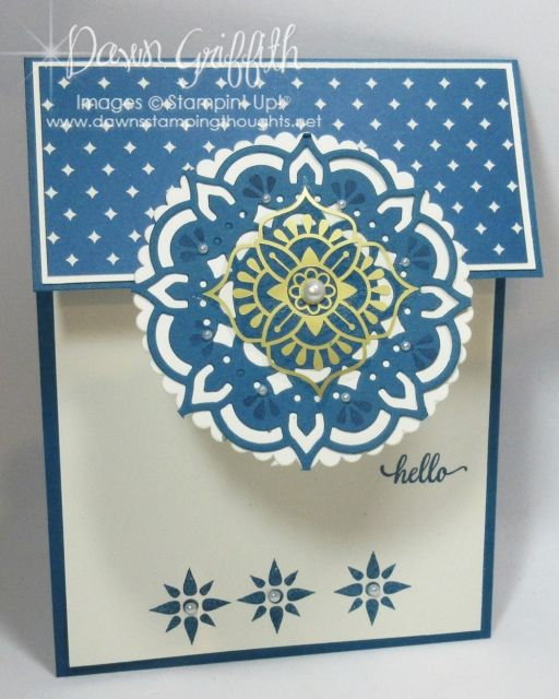 Eastern Palace ~ Hello card - Dawn's Stamping Thoughts