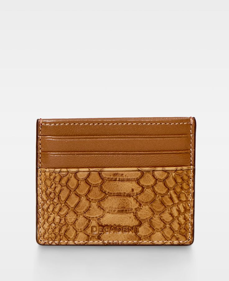 DECADENT Two Side Card Holder  Anaconda Cognac
