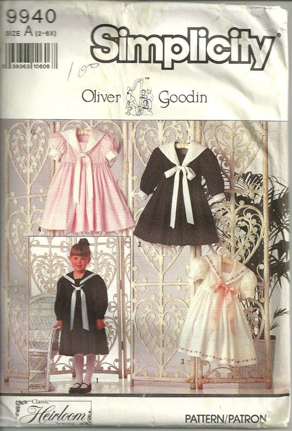 Simplicity 9940 Oliver Goodin Heirloom Girls Sailor by mbchills
