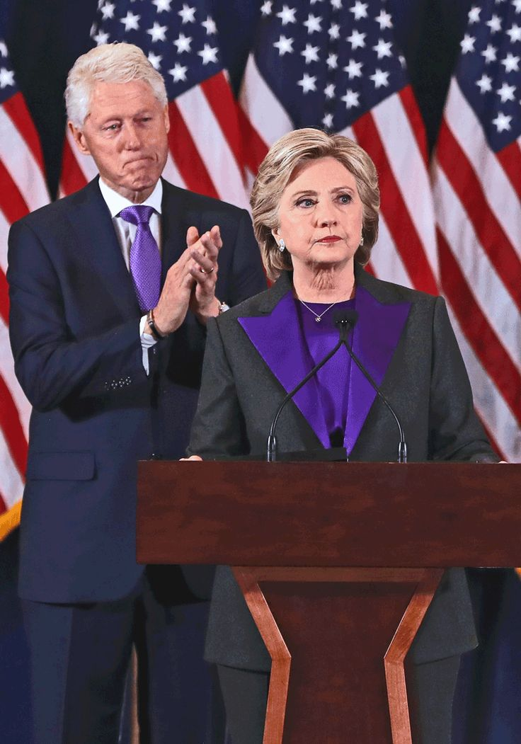 Hillary Clinton's Purple Pantsuit Sends Powerful Message, According to Social Media [Video]