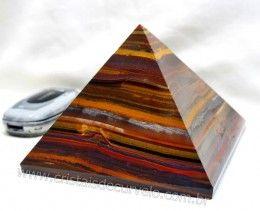Piramide Olho de Tigre Pedra Natural Africa Medidas Baseada em Queops Cod 1.398