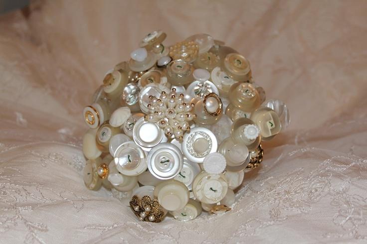 Ivory button bouquets - Forever button bouquets