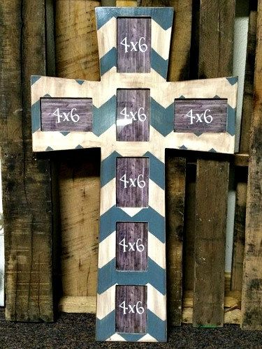 Cross Picture Frame, Wood Art, Unfinished Wood Frame, Wall Decor