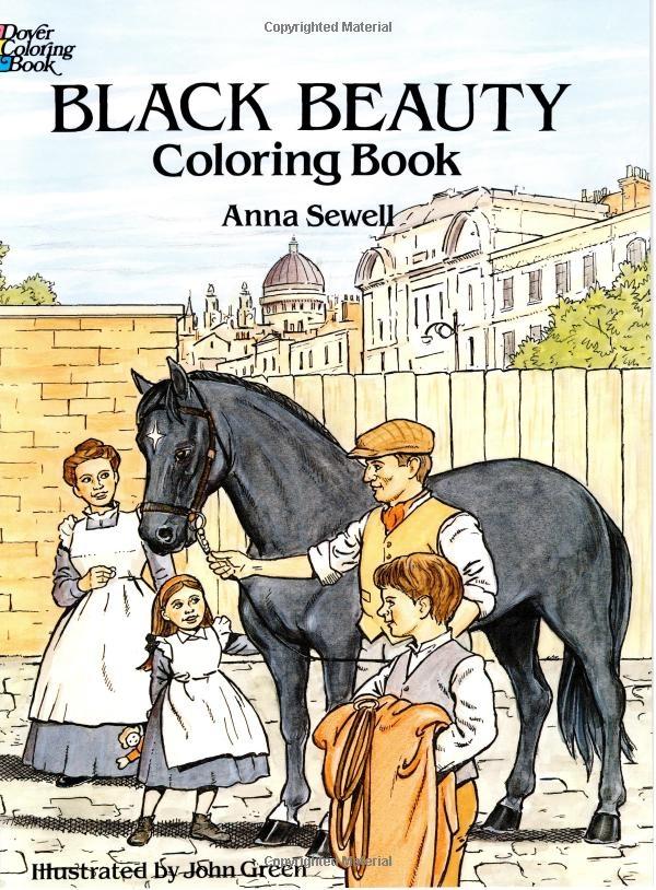 Black Beauty Anna Sewell John Green Coloring Books Horses 9780486292724