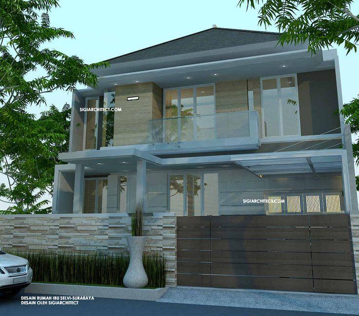 Rumah Minimalis Tropis & Interior type 412 M2 berdiri diatas lahan berukuran 12 M X 20 M2, Desain Rumah minimalis tropis di kawasan Surabaya barat.