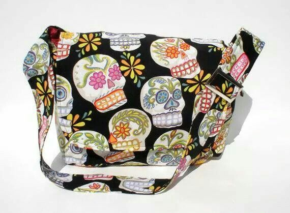 Sugar Skull Messenger Bag - Plus Size - Curvy Fashion - Bold - Unique - Renegade
