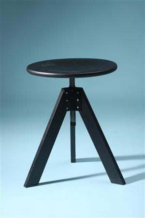 Adjustable stool, Giotto. Designed by De Pas, D'Urbino and Lomazzi for Zanotta
