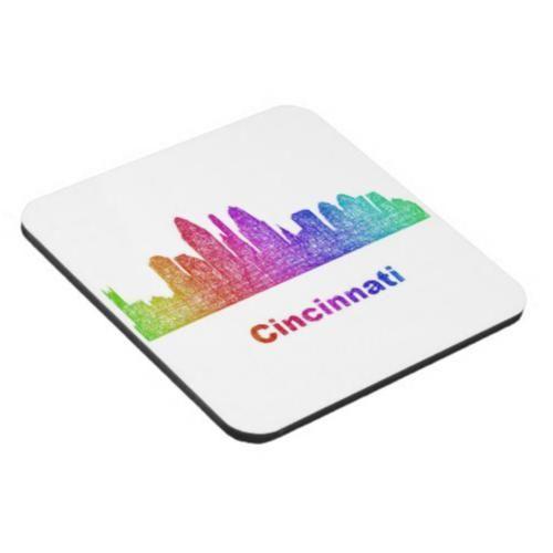 Rainbow Cincinnati skyline Beverage Coaster $29.80