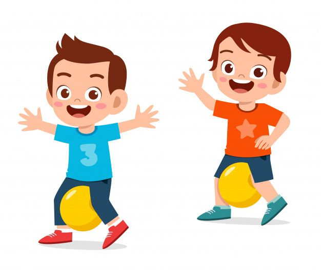 Happy Cute Little Kid Boy Exercise With Ball Exercises With Ball Alphabet Activities Preschool Happy Kids