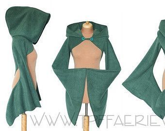 Amazing 'Korrigan' Solid Fleece Fabric Shrug – Hooded / Suede Sleeve