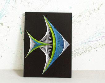 PESCADO String Art geometría sagrada psychedelic arte