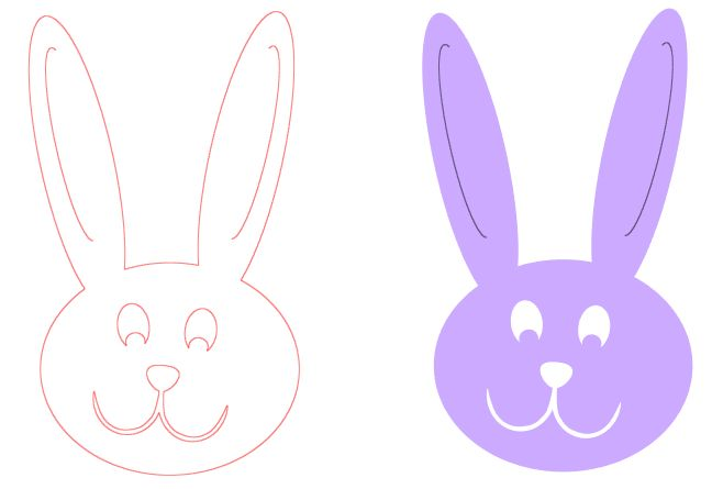 How to make a bunny head using simple shapes in Silhouette Studio ~ Whatchaworkinon.com