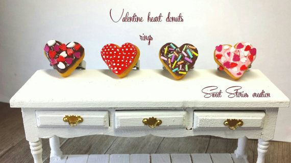 Check out this item in my Etsy shop https://www.etsy.com/listing/222014311/valentine-heart-donut-ring-earring-mini