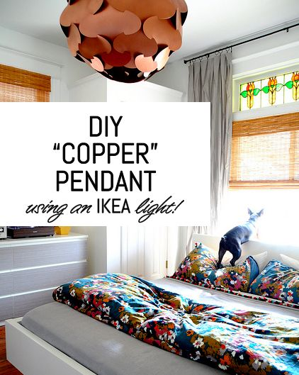 bedroom lights ikea diy copper pendant using an ikea light diy 10544