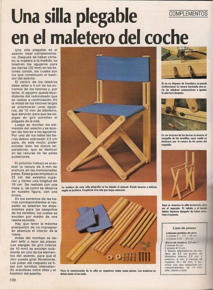 25 b sta silla madera plegable id erna p pinterest - Como se elabora una silla de madera ...