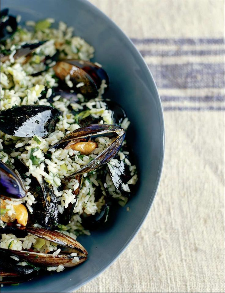 Mussels with rice and dill by Pam Talimanidis from A la Grecque | Cooked