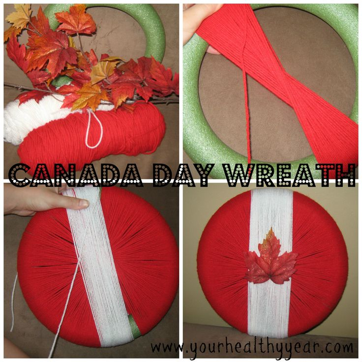 Canada Day Wreath #DIY