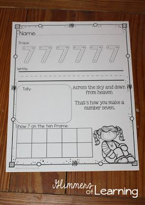 Check out these adorable number poems and practice pages. This will definitely help some of my struggling students!