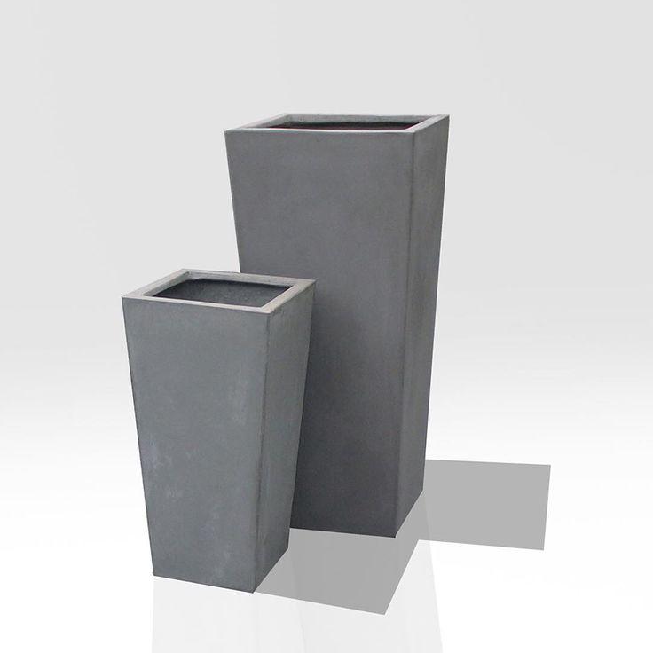 """Tall Taper Cement Pots #grc #gfrc #gardenpots #lightweightcement #concrete #gardendesign #landscapegardening #contemporaryconcrete  #planters…"""