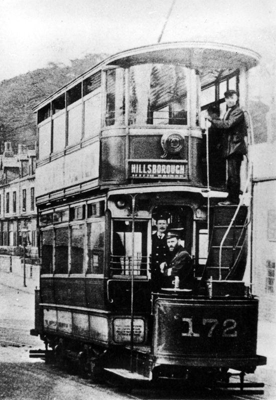 Tram No. 172 to Hillsborough at Banner Cross, Sheffield, UK. #socialsheffield