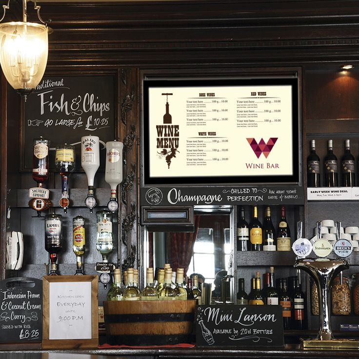 digital menu boards with pictures - Google Search                                                                                                                                                                                 More
