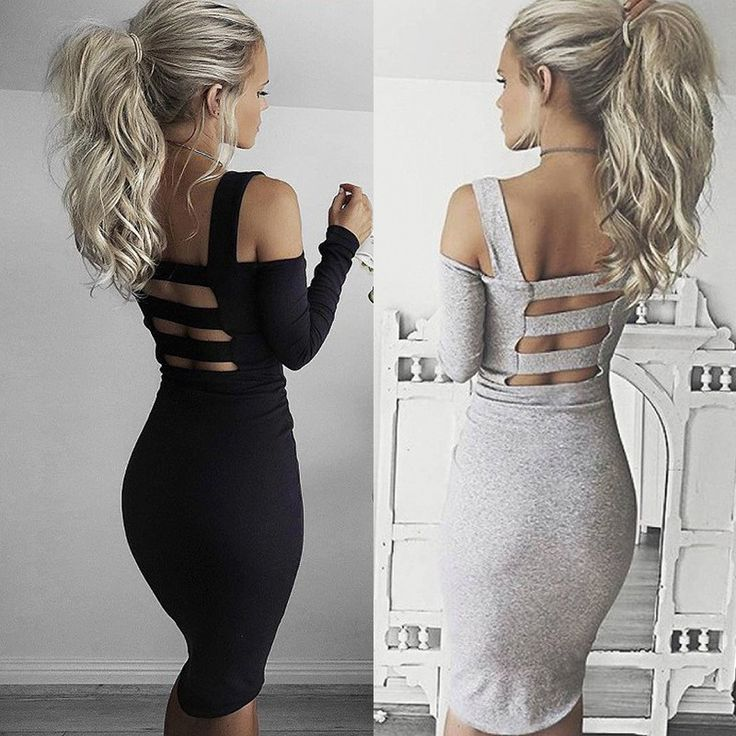 CAGED COLD SHOULDER BODYCON $10 US #caged #coldsholder #bodycon #black #gray #dress #longsleeve #clubwear #sexydress #freeshipping #blogger #fashion #bandage #trendswithtabitha #affiliate