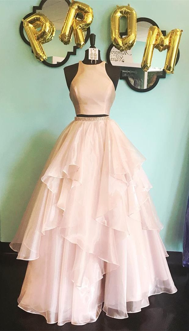 1c35dae349b8 Simple Two Piece Short Homecoming Dress from dreamdressy in 2019 | 2018  elegant prom dresses | Prom dresses long pink, Dresses, Quinceanera dresses