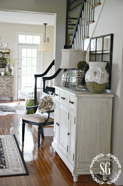 Farmhouse Friday Stone Gable Small Chairs Foyers And
