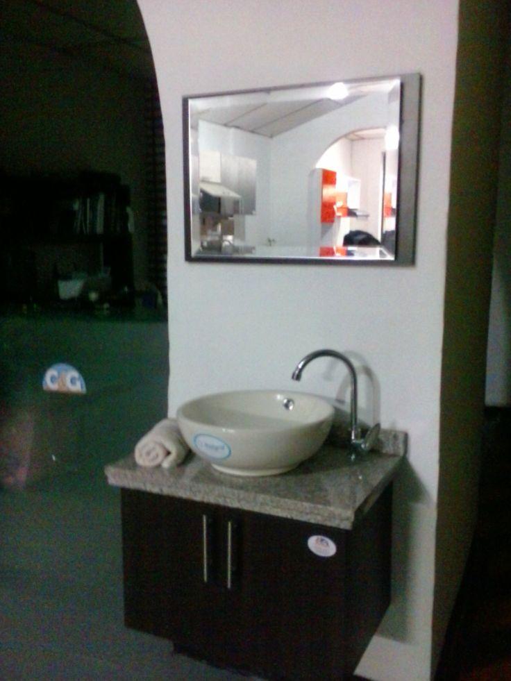 17 mejores ideas sobre lavamanos con mueble en pinterest - Lavamanos sobre encimera ...
